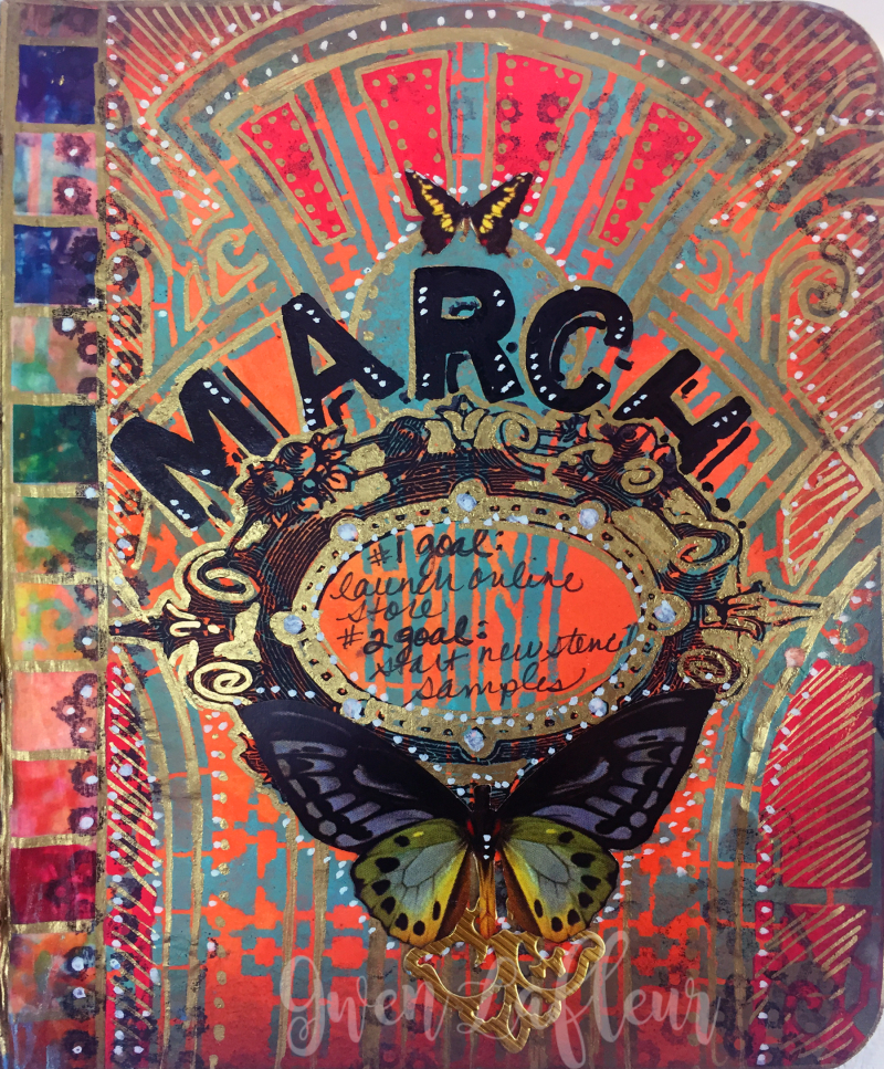 March ARTifacts Art Journal - Page 1 - Gwen Lafleur