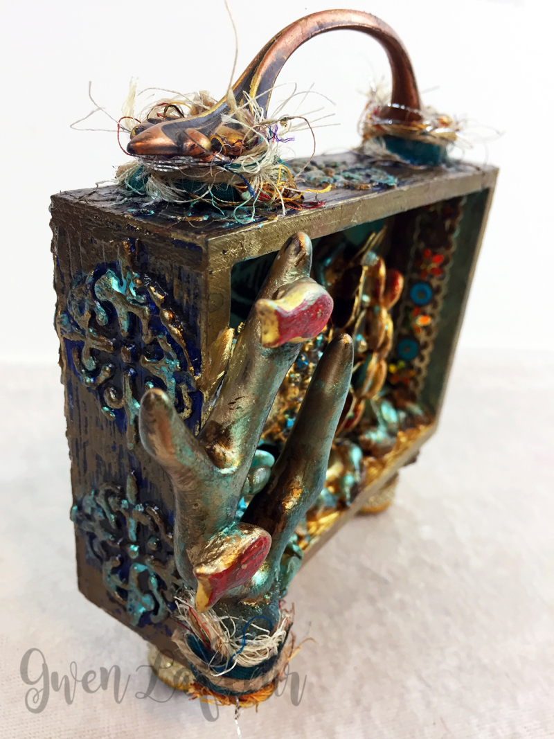 Mixed Media Shadow Box - Ocean Scene Side - Gwen Lafleur