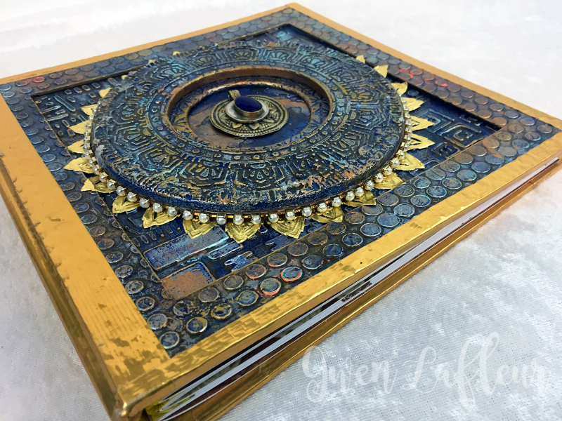 Textured Stenciled Book Cover Angle 1 - Gwen Lafleur