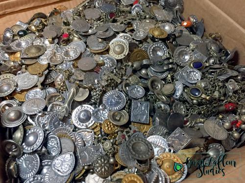 Vintage Turkmen Jewelry Parts - Bulk - Gwen Lafleur Studios