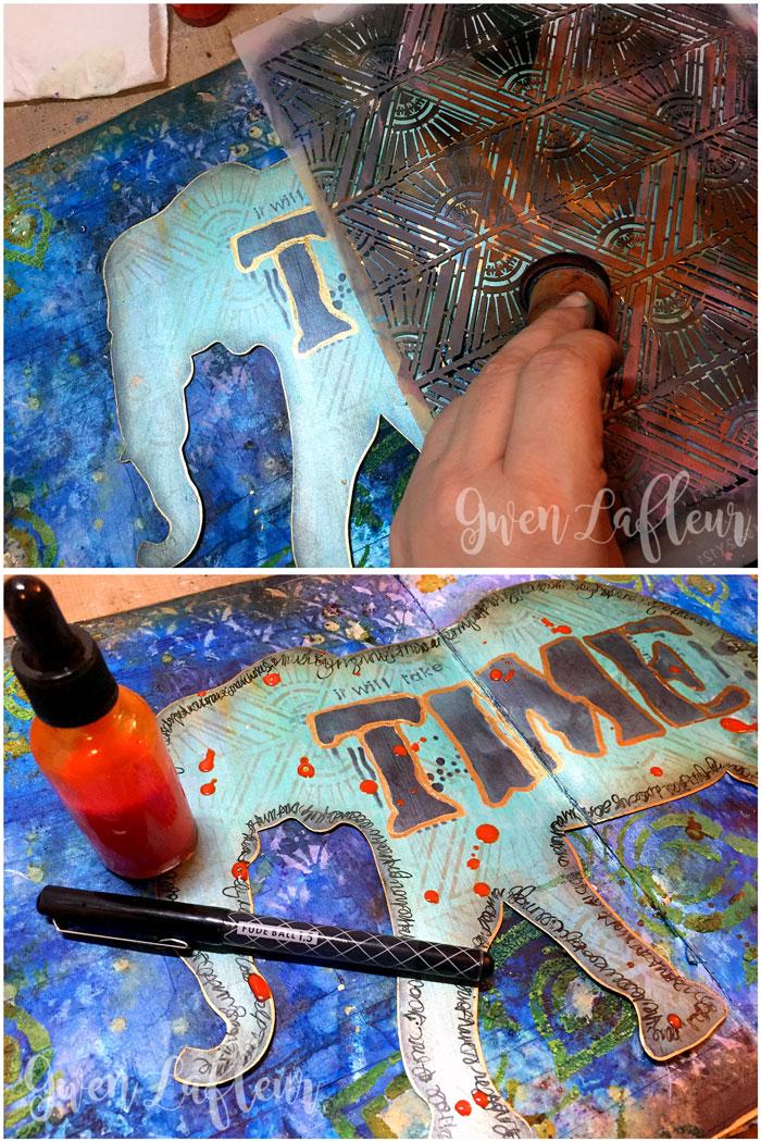 StencilGirl-Brusho-Art-Journal-Page-Steps-8-9---Gwen-Lafleur