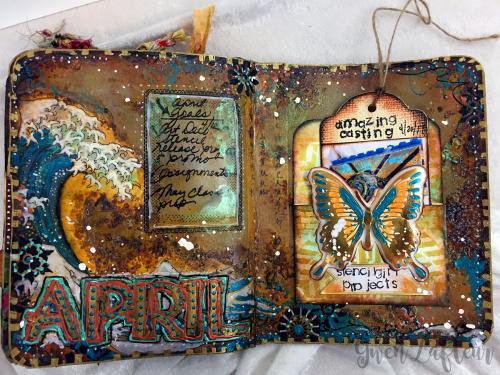 ARTifacts April 2017 - Spread 1a - Gwen Lafleur