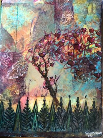 Art Journaling with Stencils - August 2017 - Jill McDowell