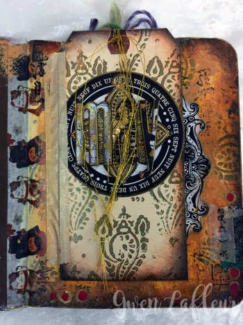 May ARTifacts Art Journal Spread 1 - Gwen Lafleur