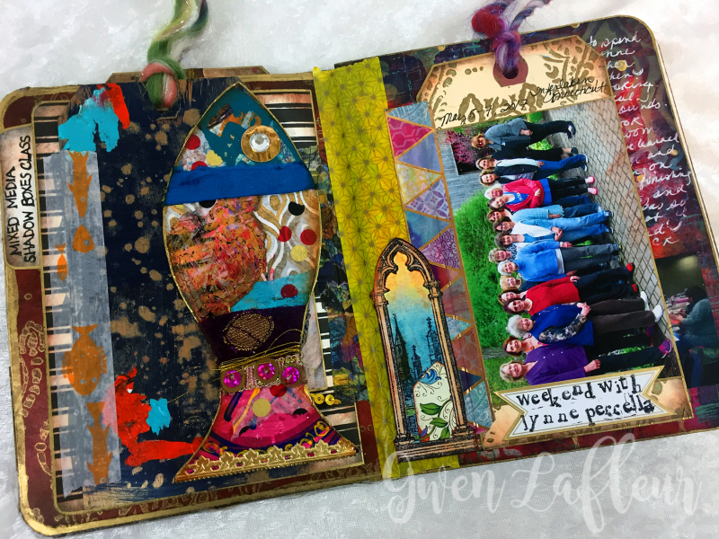 May ARTifacts Art Journal Spread 2a - Gwen Lafleur