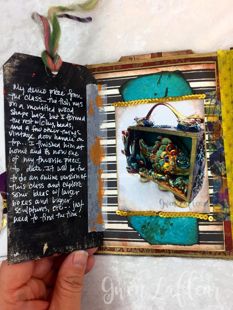 May ARTifacts Art Journal Spread 2 Left a - Gwen Lafleur