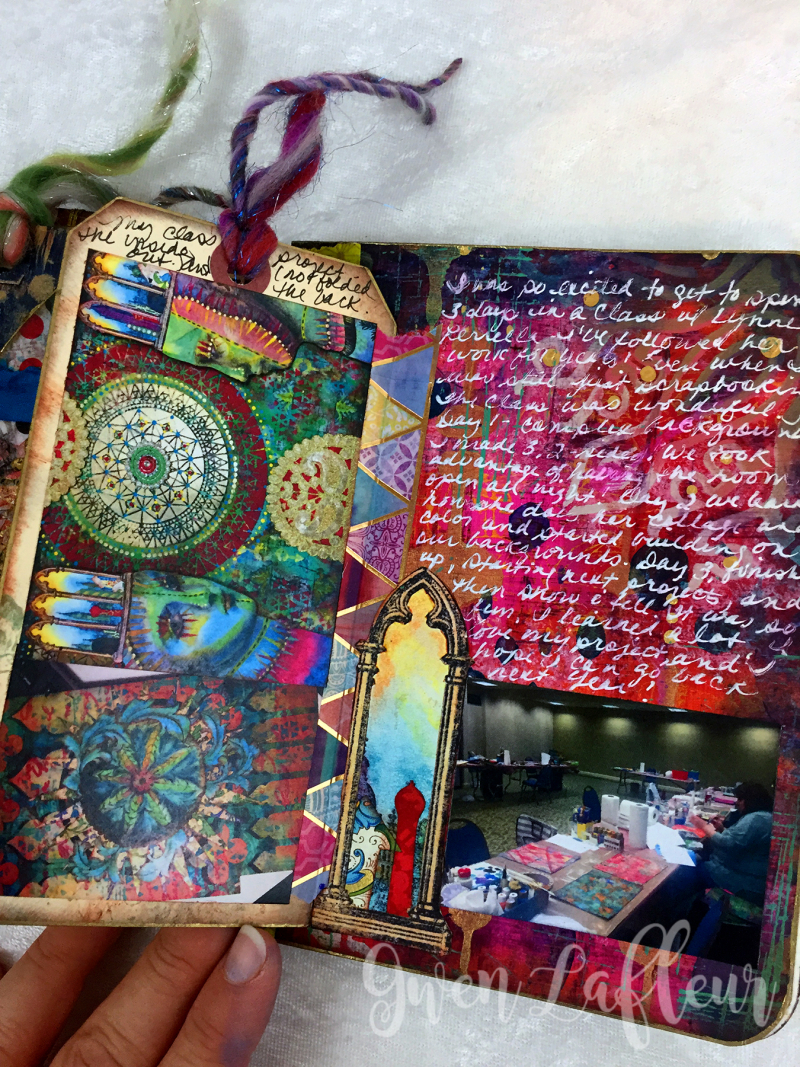 May ARTifacts Art Journal Spread 2 Right a - Gwen Lafleur
