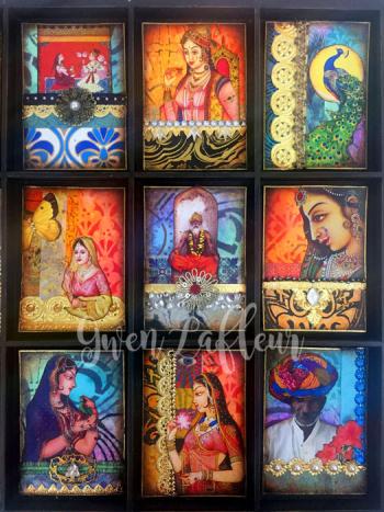 Stenciled-and-Embellished-ATCs---Finished-Cards-1---Gwen-Lafleur