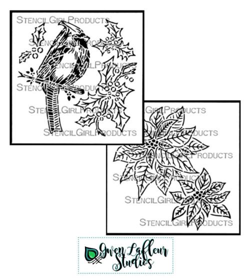 Christmas-Stencil-Collage---Gwen-Lafleur-Studios