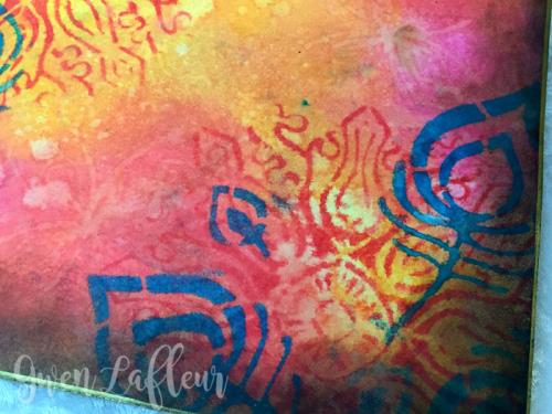 Stenciled-File-Folder-Art-Journal-with-Distress-Oxide-Inks-closeup-2---Gwen-Lafleur