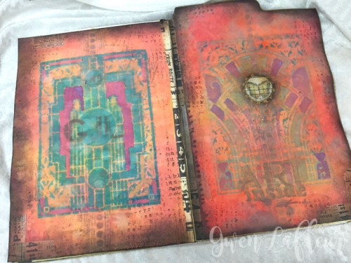 Stenciled-File-Folder-Art-Journal-with-Distress-Oxide-Inks-Covers--Gwen-Lafleur
