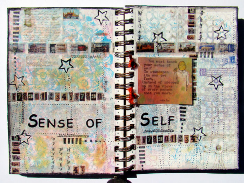 Sense-of-Self-Art-Journal-Spread-by-Sandee-Setliff