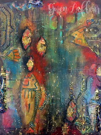 Fish Food - Mixed Media Canvas - Gwen Lafleur