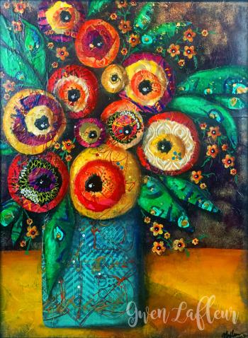 Boho-Floral-Still-Life-Collage---Gwen-Lafleur