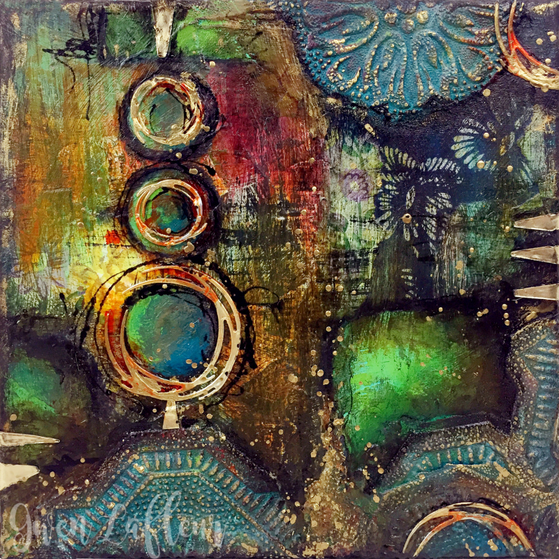 Abstract Mixed Media Collage - Gwen Lafleur