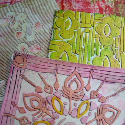 Making Collographs from Stencils - Jill McDowell