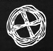 Scribble X Mask - 4x4 Stencil - Gwen Lafleur