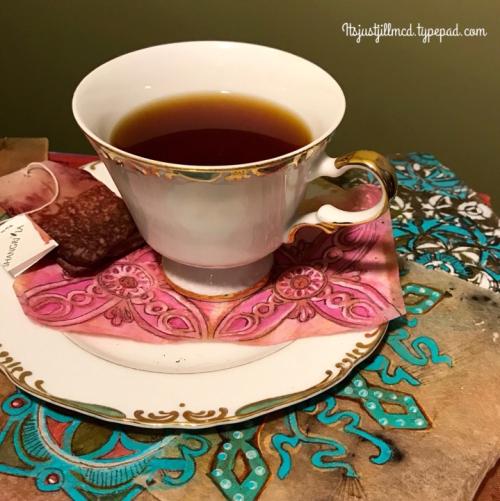 Stenciled Tea Bags 1 - Jill McDowell