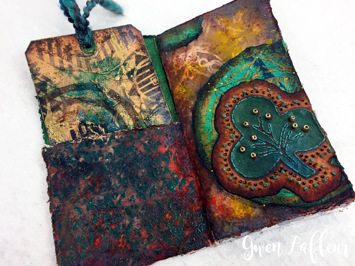 Stenciled-and-Sprayed-Mini-Art-Journal-Inside-1---Gwen-Lafleur