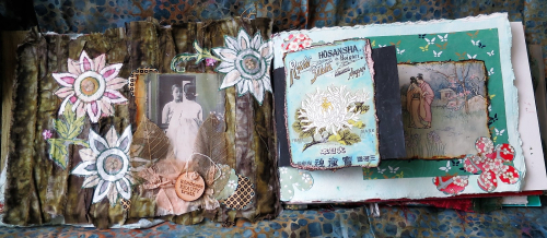 In her reflection - art journal spread - Jackie Neal