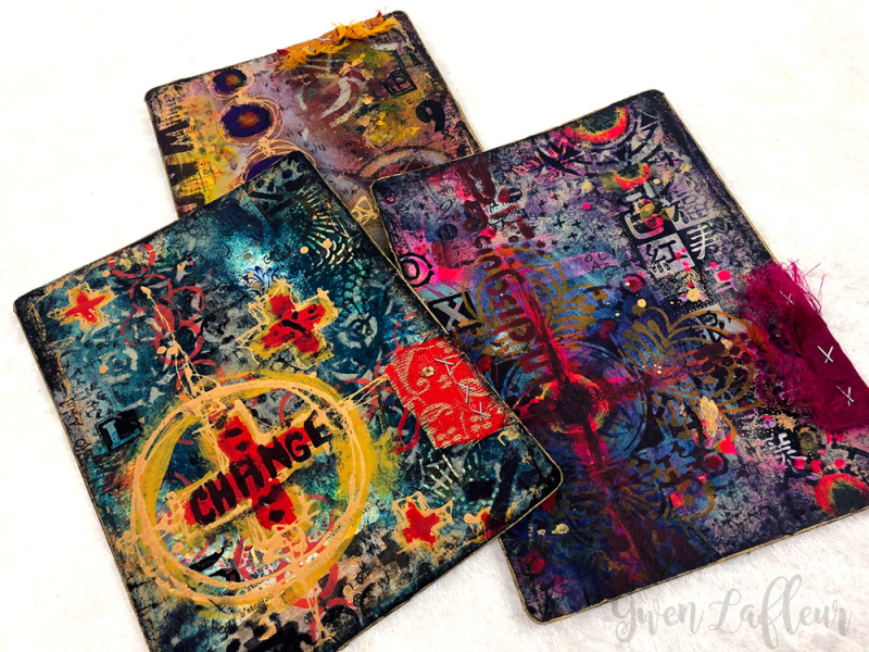 Stenciled-and-Collaged-Cards-1-3---Gwen-Lafleur
