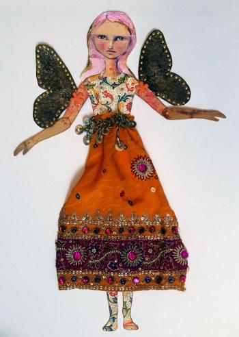 Orange-Sari-Fairy-Art-Doll---Linda-Edkins-Wyatt