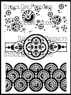 Collage Textures and Patterns Circles Stencil - Gwen Lafleur