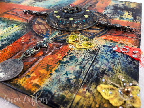 Crossing-Paths---mixed-Media-Artwork---Closeup-3---Gwen-Lafleur