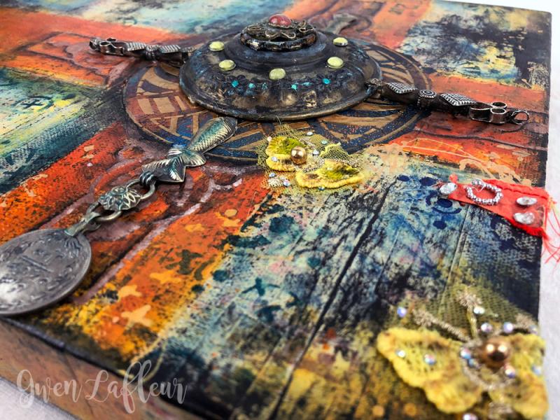 Crossing-Paths---mixed-Media-Artwork---Closeup-3---Gwen-Lafleur