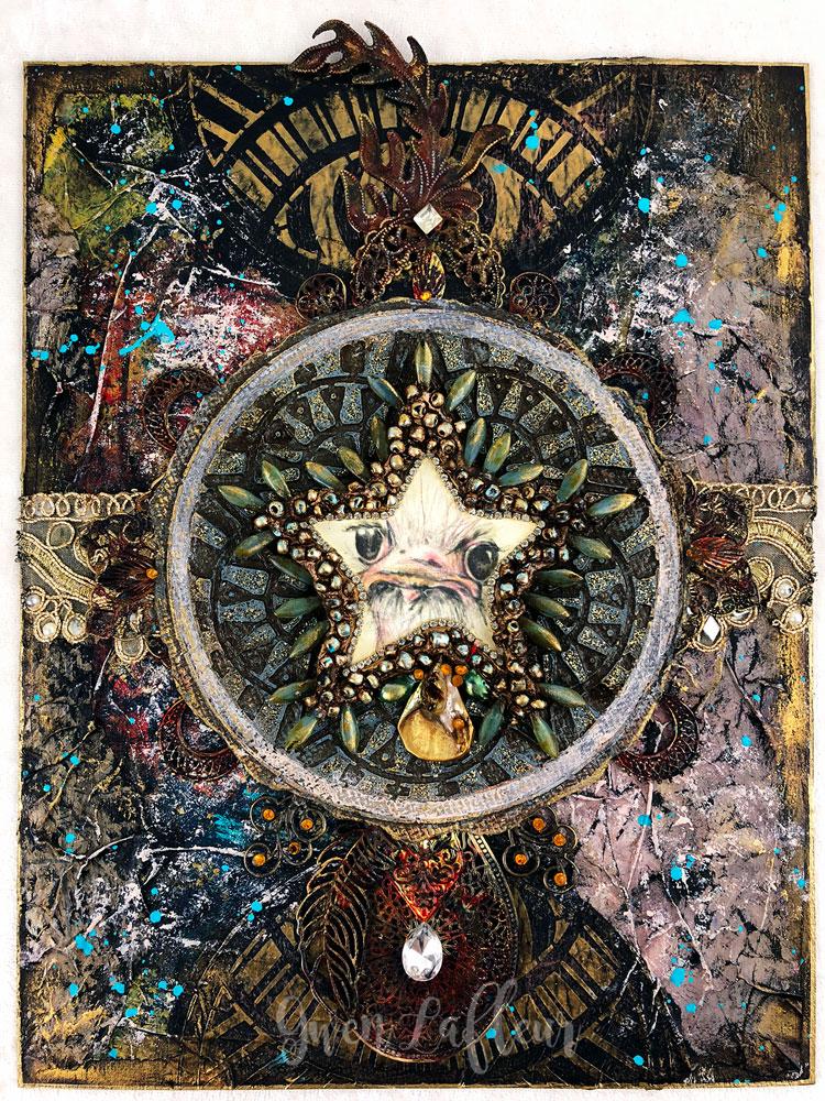Ornery-Ostrich---Mixed-Media-Artwork---Gwen-Lafleur