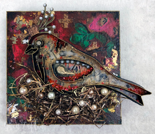 Queen-of-Her-Nest---3D-Boho-Collage-Sample---Gwen-Lafleur