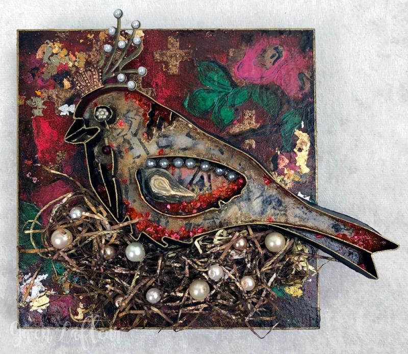 Queen-of-Her-Nest---3D-Boho-Collage-Sample---Gwen-Lafleur