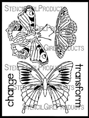 Boho Butterflies Stencil - Gwen Lafleur