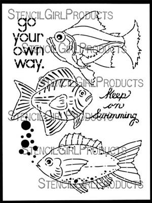 Boho Fish Stencil - Gwen Lafleur