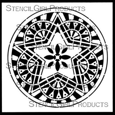 Boho Star Circle Stencil - Gwen Lafleur