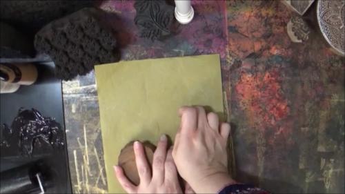 Blockprinting for Mixed Media - Printing Pressure - Gwen Lafleur