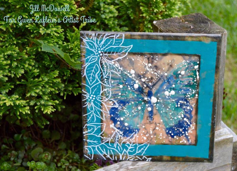 Encaustic Butterfly Painting - Jill McDowell