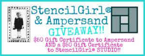 StencilGirl & Ampersand Blog Hop GIVEAWAY image