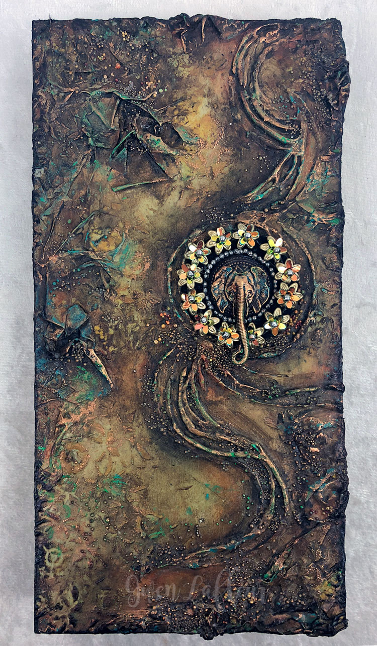 Sands-of-Time---Mixed-Media-Abstract---Gwen-Lafleur