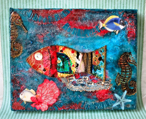 Go-Your-Own-Way---Mixed-Media-Artwork---Jackie-Neal