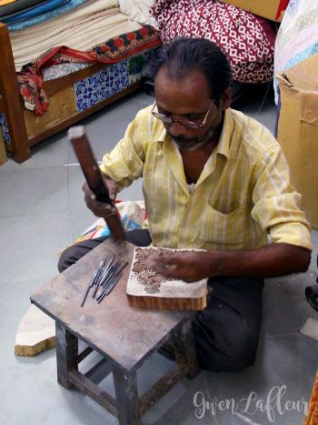 Woodblock-Carving-Demo---Jaipur-India---Gwen-Lafleur