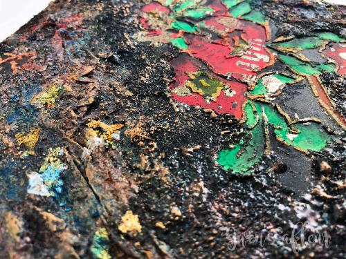 Artist-Book-Cover---Stencils-and-Embossing-Closeup-2---Gwen-Lafleur