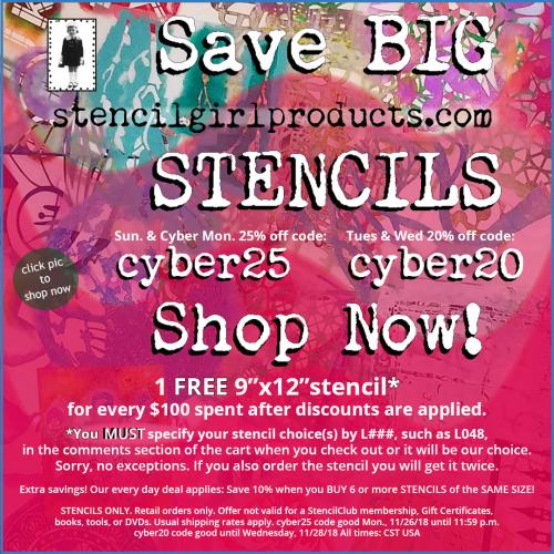 StencilGirl 2018 Cyber Monday Banner