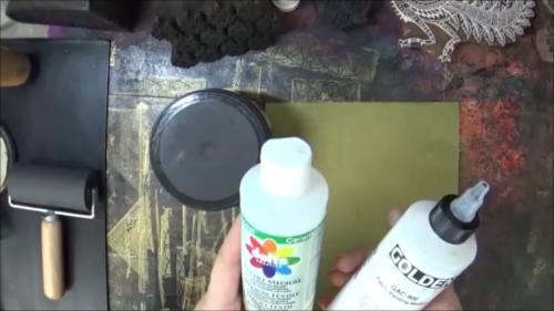 Blockprinting for Mixed Media - Paint Extenders - Gwen Lafleur